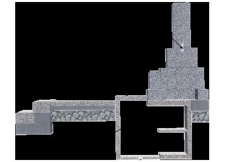 カロート(納骨棺)の構造