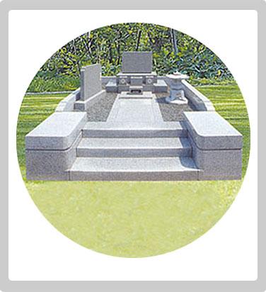 洋型墓石 家紋配置例