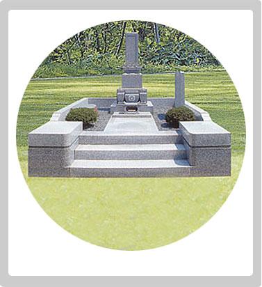 和型墓石 家紋配置例