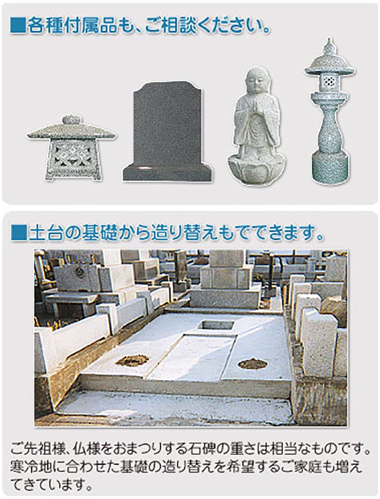 和型墓石の場合