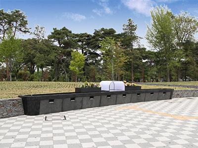 樹林型合葬埋蔵施設