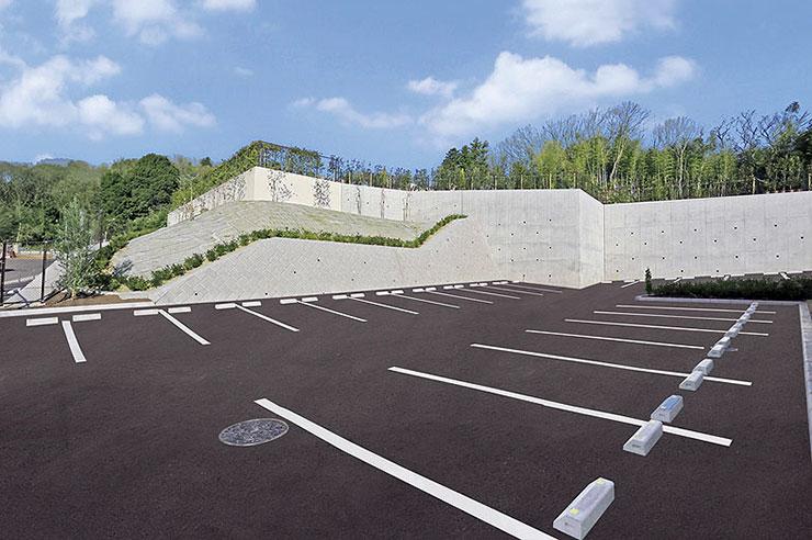 安心の広い平置き駐車場
