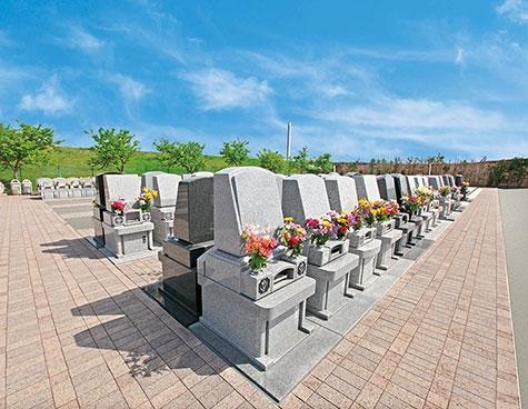 面積0.80㎡ ゆとり墓地施工例