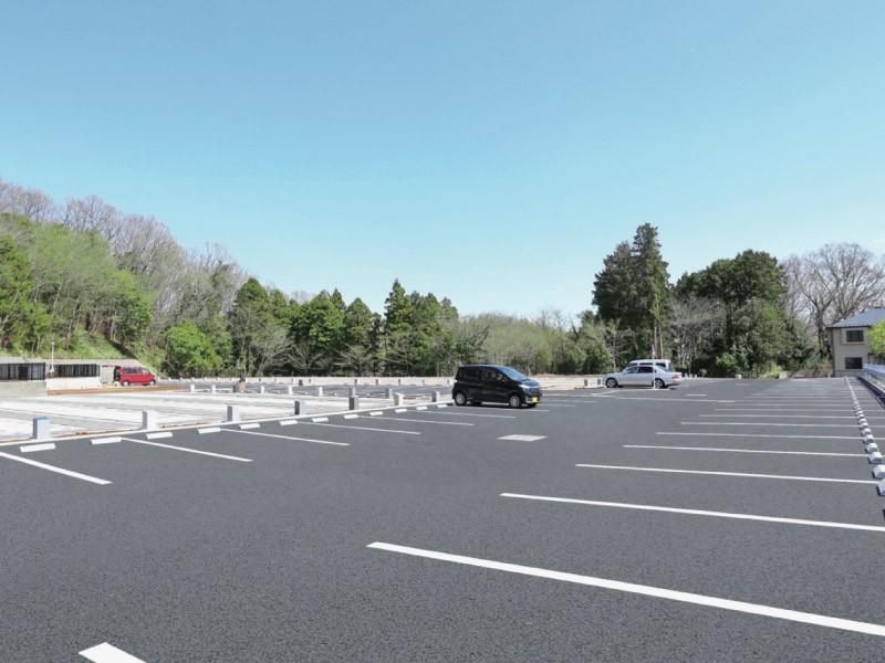 平置き大型駐車場完備